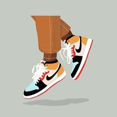 Cute Canvas Paintings, Small Canvas Art, Mini Canvas Art, Diy Canvas, Aesthetic Painting, Aesthetic Art, Sneakers Wallpaper, Sneaker Art, Shoe Art