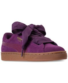 Puma Girls  Suede Heart Snk Casual Sneakers from Finish Line Girls  Sneakers e86a908b9