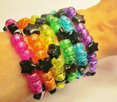 Star Kandi Rave Bracelets / Kandi Set / Festival Beads / EDM / Candy Bracelets / Bright Colorful Neon Beaded Bracelets / Dance Festival on Etsy, $11.00