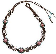 handmade rhodonite gemstone choker
