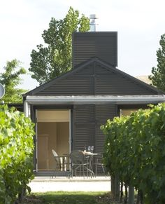Craggy Range guest cottages sit right next to the vines Luxury Accommodation, Barn Homes, Cottages, Vines, Art Deco, Range, Architecture, Places, Outdoor Decor