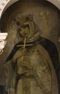 Saint Olga, by Nesterov at St. Vladimir's Cathedral in Kiev.