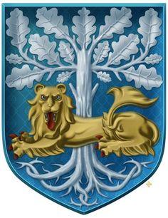 L Oktoberfest Shirt, Acorn And Oak, Medieval Art, Coat Of Arms, Book Art, Disney Characters, Fictional Characters, Aurora Sleeping Beauty, Lion Sculpture