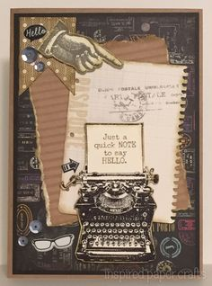 Typed Note - Stamp of the Month www.inspiredpapercrafts.com