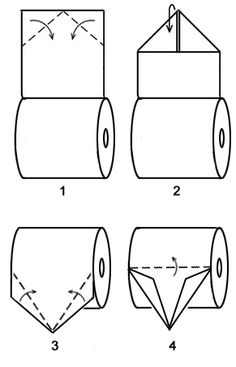 "Learn to make a toilet paper origami boat where the boat is still attached to the toilet paper roll. ""What?"" you might say, but seriously, this is a cute design which you won't Toilet Paper Origami, Toilet Paper Art, Quilling Paper Craft, Origami Paper Art, Toilet Paper Roll Crafts, Origami Sailboat, Origami Easy, Money Origami, Paper Napkins"