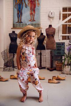 Birdie Long Playsuit Autumn Rose - Arnhem Clothing