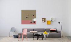 Une création originale, un atelier d'artiste particulier : un iPad Pro pour une peinture abstraite bicolore rose et gris. Une ambiance trendy pour une Déco uniq