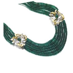 Emerald and gold necklace