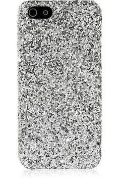 Glitter-finished iPhone 5 case #technology #women #covetme #saintlaurent