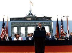 "Ronald Reagan at the Berlin Wall. ""Mr. Gorbachev...tear down this wall!"""