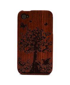 TreeEnv Engraved Rosewood iPhone4/4s Wood Case