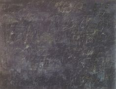 Cy Twombly, Panorama, 1955.  House Paint, crayon and chalk on canvas   254 x 340.4cm