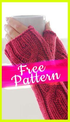 knitting fingerless gloves Pattern