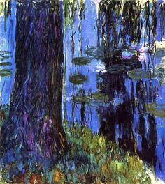 Claude Monet - Weeping willow and water-lily pond, 1919. Oil on canvas. Private Collection