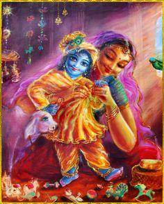 ♥♥•~KRISHNA~•♥♥ Artist: Yugala Priya devi dasihttp://www.vrindavanexperience.com/
