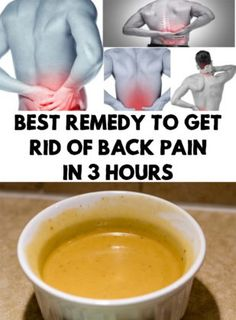 Best Remedy To Get Rid Of Back Pain In 3 Hours