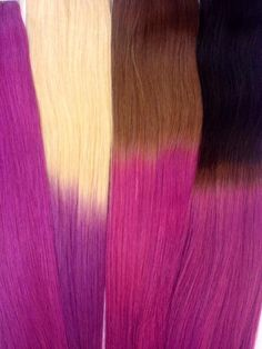 Purple ombre hair extensions. Summer hair<3 Tape-in and u-tip hair. Phoenixhairextensions.no