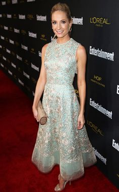 Anna of Downton Abbey at the 2014 Emmys party