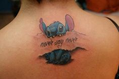 Except Ohana instead of never say never #stitch #tattoo