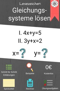 15 best Gleichungssysteme images on Pinterest   Systems of equations ...