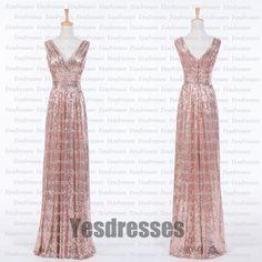Sequin Dress, Bridesmaid Dress, Long Dress, Off Shoulder Dress, V Neck Dress, Long Sequin Dress, Sleeveless Dress, Sequin Bridesmaid Dress