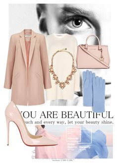 """blushing blues "" by raqcitychic ❤ liked on Polyvore featuring Valentino, Miss Selfridge, C by Bloomingdale's, Michael Kors, Kate Spade, Christian Louboutin, women's clothing, women, female and woman"