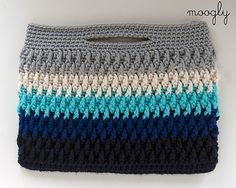 Ravelry: Chroma Crochet Bag pattern by Tamara Kelly could be a laptop/tablet cover