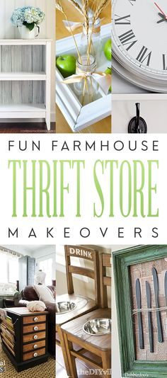 Fun Farmhouse Thrift Store Makeovers that are Fresh and will inspire you!