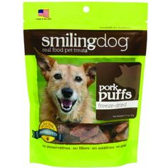 Herbsmith Smiling Dog Freeze Dried Pork Puff Treats for Dogs and Cats, 2.5-Ounce ~~~ The details can be found by clicking on the image. (This is an affiliate link and I receive a commission for the sales)