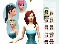 ~Cat Ears for Male and Female Sims Teen to Elder Found in TSR Category 'Sims 4 Female Hats'