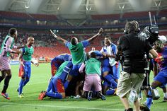 Cape Verde celebrate their victory over Angola. (Getty) Add World Football INSIDER on www.Twitter.com/WorldFBInsider & www.Facebook.com/WorldFootballInsider for the latest info on the world of #Football / #Soccer.