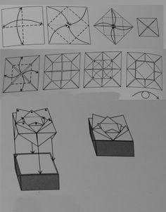 Bruno origami: Origami caixa flor de lotus
