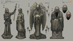 Statues, Neil Richards on ArtStation at https://www.artstation.com/artwork/B13RA