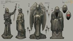 Statues, Neil Richards on ArtStation at https://www.artstation.com/artwork/statues-9e460d26-b71d-4948-8c26-f712951552d3