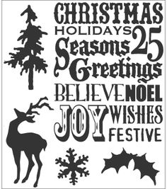Tim Holtz Cling Rubber Stamp Set-Seasons Silhouettes, , hi-res