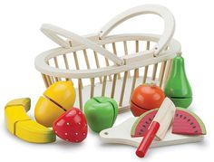 New Classic Toys - Cutting meal - Fruit Basket