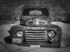This is a series of images of this beautiful oldie Ford Truck i photographed one day. I had passed this by many times and each time it would catch my eye! I stopped on this beautiful winter day! Rat Rods, Old Ford Pickups, 1951 Ford Truck, The Joke You, Old Pickup Trucks, Old Fords, Love Car, Classic Trucks, Old Things