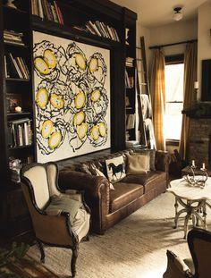 ladder for blankets? Inside Billy Reid's Art-Filled Family Home in Alabama   GQ