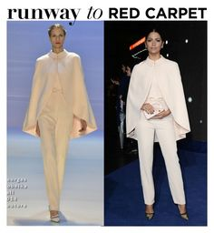 """""""Runway to Red Carpet: Camila Alves In Georges Hobeika Couture Chic Oversized Coats Style"""" by farrahdyna ❤ liked on Polyvore"""