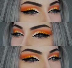 Beautiful orange eye makeup look #eyeshadow #makeup #makeupartist