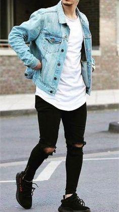 Moda casual masculina outfits man style 42 Ideas for 2019 Stylish Mens Outfits, Casual Outfits, Men Casual, Casual Jeans, Winter Outfits, Men's Jeans, Cool Outfits For Men, Trendy Mens Fashion, Man Outfit