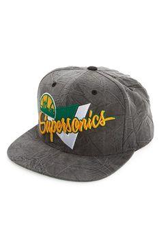 f9e2e901 Mitchell & Ness 'Seattle Supersonics - Crease Triangle' Snapback Baseball  Cap available at