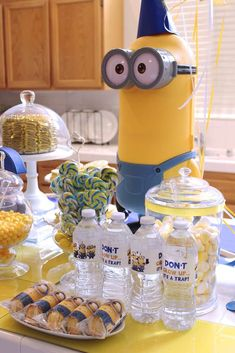 Fun Minions birthday party! See more party ideas at CatchMyParty.com!