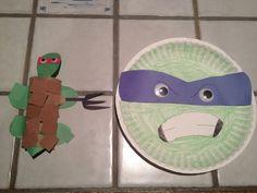 ninja turtle crafts | Ninja turtle craft. #TMNT | supplies for my toddlers