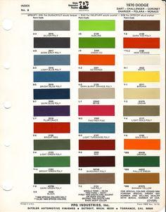 1978 dodge truck paint colors