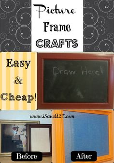 Easy and quality chalk paint recipe to use for crafts and projects. This is my go-to homemade chalk paint recipe you need to try and save some money! Cute Picture Frames, Picture Frame Crafts, Contact Paper Crafts, Easy Crafts, Diy And Crafts, Homemade Chalk Paint, Funny Fathers Day Gifts, Simple Pictures, Wreath Crafts