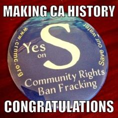 "Mendocino County Becomes First in California to pass a Community Bill of Rights  photo[2]At 8:00 pm on Election Night 2014, residents of picturesque Mendocino County concerned about the availability and quality of local water waited anxiously for the first results on Measure ""S"", the Community Bill of Rights Ordinance that bans fracking, dumping of frack waste and protects their water from being used for fracking anywhere in the state."
