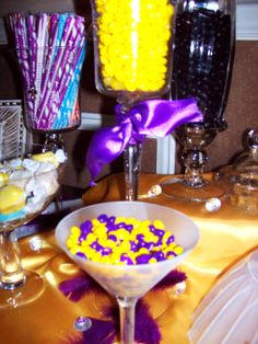 LSU candy buffet!! Geaux Tigers
