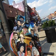 Nashville TN (There are several of these hand painted guitars on display all throughout Nashville) Take your camera.