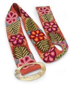 Buy Wool and bull horn belt, 'Ayacucho Bouquet' today. Shop unique, award-winning Artisan treasures by NOVICA, in association with National Geographic. Each original piece goes through a certification process to guarantee best value and premium quality. Bull Horns, Felt Embroidery, Natural Materials, Dyes, Loom, Jewelry Gifts, Weaving, Artisan, Bouquet